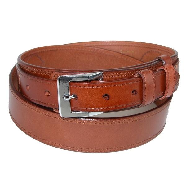 CTM® Men's Leather Removable Buckle Ranger Belt