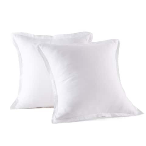 "Linen European Pillow Shams, 2 Pcs, 26""x26"" Square Pillow Sham"