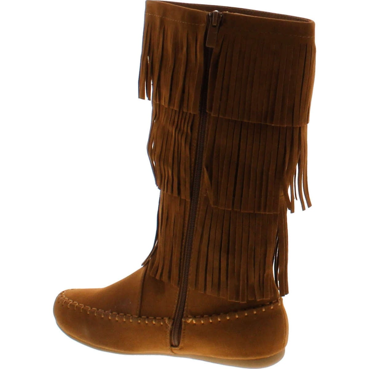 Link Fringe Boots Girls Faux Suede Candice Tan