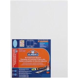 "Elmer's Bi-Fold Self-Standing Project Display Board 9""X12""-White, 18""X12"" When Open"