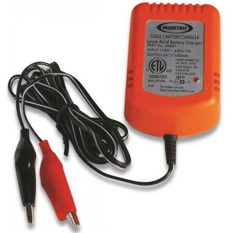 Moultrie MFA-13211 Battery Charger, 6 Volts
