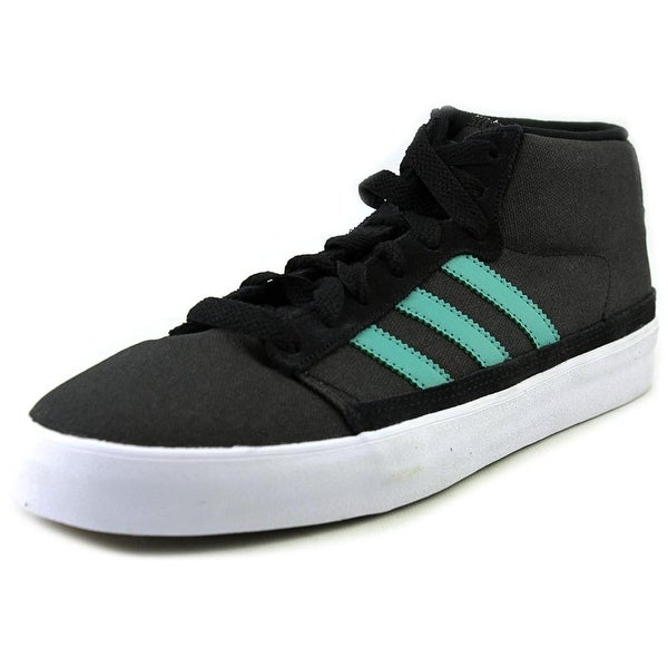 Adidas Rayado Mid Men Round Toe Canvas Black Sneakers