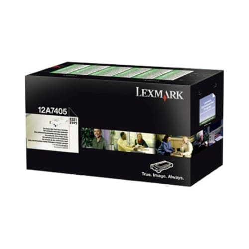 Lexmark 12A7405 Black High Yield Toner Cartridge For E321 / E323 / E323tn -6000 Pages