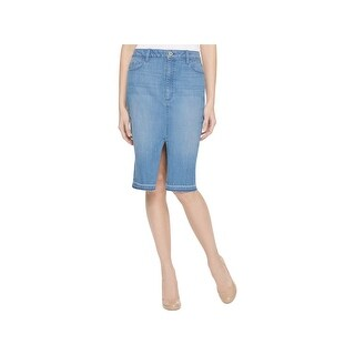 Tommy Hilfiger Womens Denim Skirt Released-Hem Casual