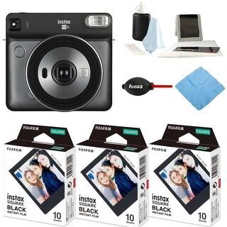 Fujifilm Instax Square SQ6 Instant Camera (Graphite) and Black Frame Film Bundle