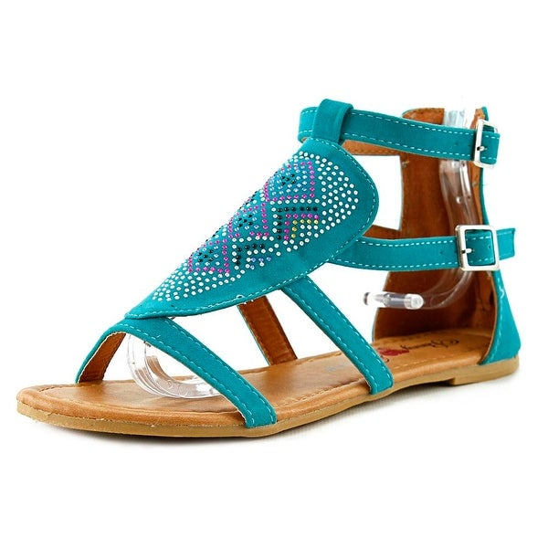 Penny Loves Kenny Sioux Women Open Toe Suede Blue Gladiator Sandal