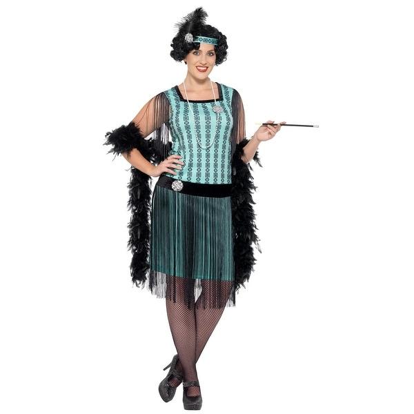 Shop Women\'s Plus Size 1920s Mint Coco Flapper Costume - Free ...
