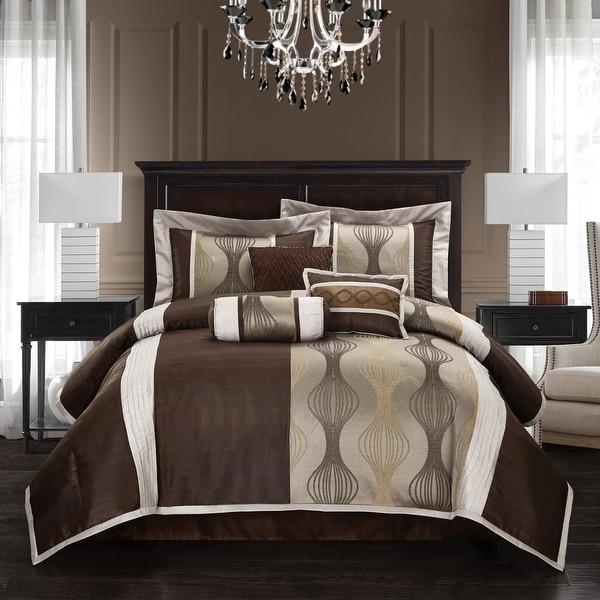 Grand Avenue Daniella 7-piece Modern Geometric Comforter Set. Opens flyout.