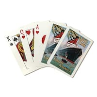 Cunard Line Europe America (Rosenvinge) Vintage Ad (Poker Playing Cards Deck)