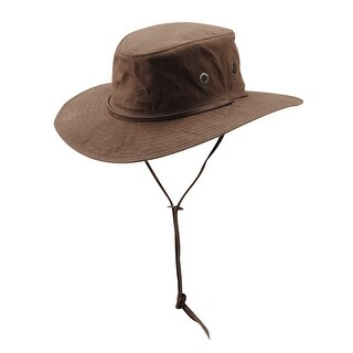 DPC Outdoor Design Men's Oil Cloth Boonie Hat with Leather Chin Cord