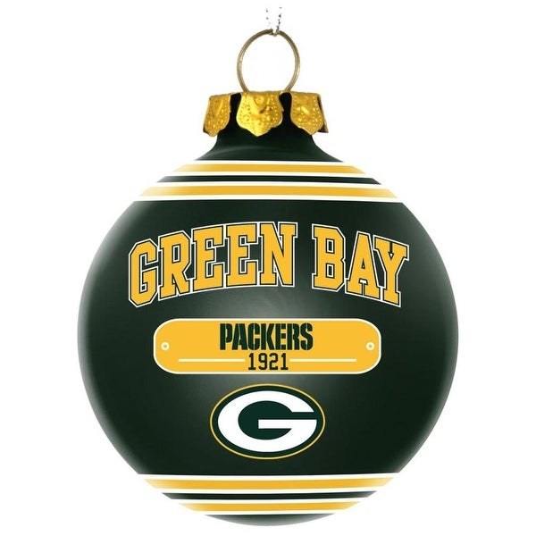Shop Green Bay Packers Official Plaque Ball Ornament Free Shipping  supplier D4fc1ep3