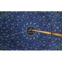 Handmade Cotton 3D Pink Floyd Dark Side of Moon Tapestry Tablecloth Spread 30x45