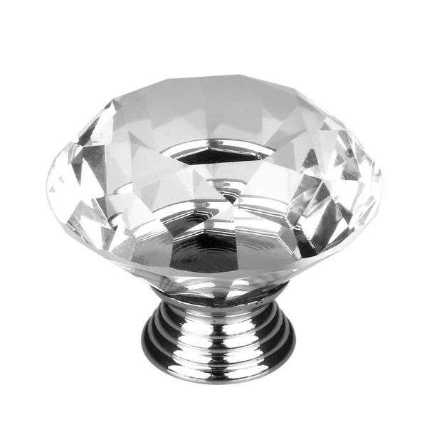 Glass Kitchen Cabinet Door Knobs: Shop Clear Diamond Crystal Glass Door Knobs Cupboard