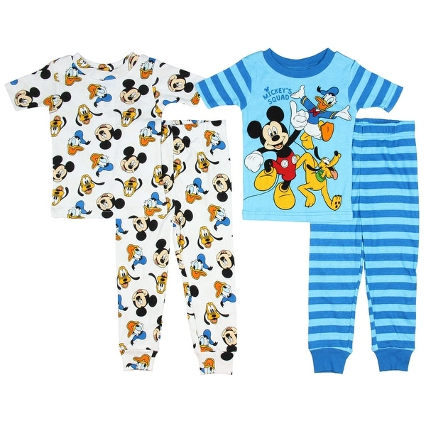 82587ee20 Shop Disney Mickey Mouse Little Boys Toddler Mickey's Squad 4-Piece Pajama  Set - Free Shipping On Orders Over $45 - Overstock - 20741317