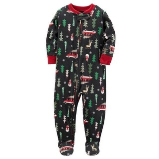 Carter's Baby Boys' 1-Piece Christmas Fleece PJs, 18 Months