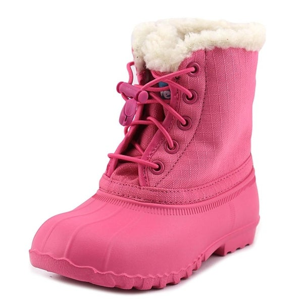 Native Jimmy Winter Youth Round Toe Canvas Pink Winter Boot
