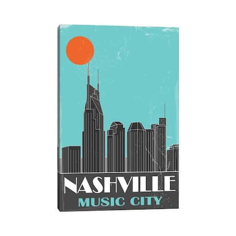 """iCanvas """"Nashville, Sky Blue"""" by Fly Graphics Canvas Print"""