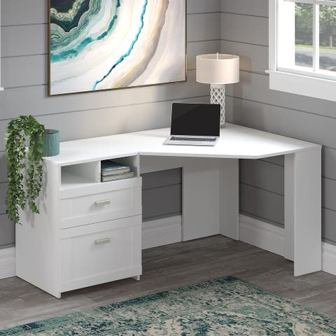 Wheaton 60W Reversible Corner Desk with Storage by Bush Furniture