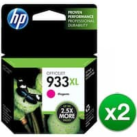 HP 933XL High Yield Magenta Original Ink Cartridge (CN055AN)(2-Pack)