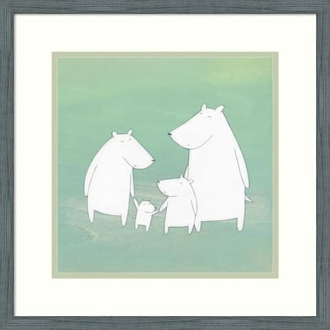 Framed Wall Art Print Perfect Day by Kristiana Parn 18x18-inch