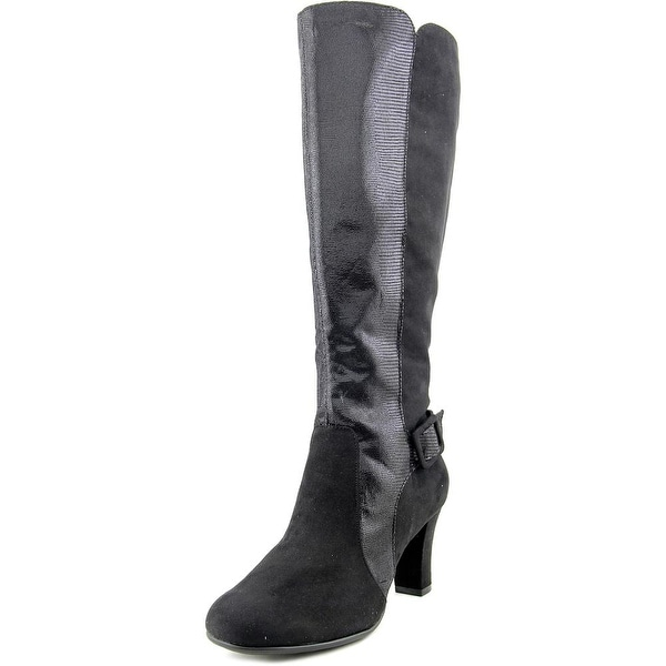 A2 By Aerosoles Womens Black Boots Aerosoles Money Role Lizard