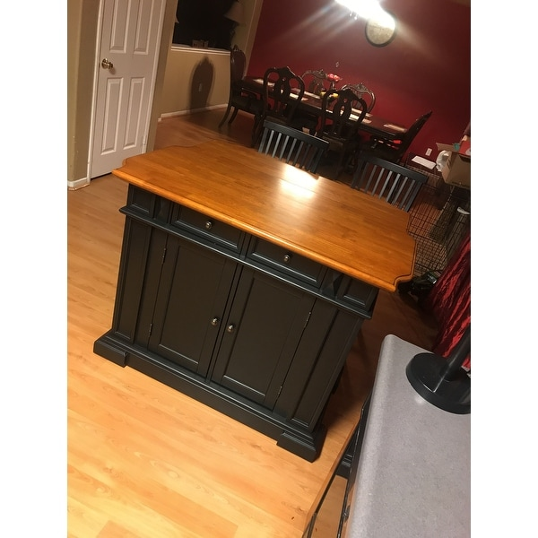 Shop Gracewood Hollow Alleyn Black Distressed Oak Finish Kitchen Island And  Barstools Kitchen Set   Free Shipping Today   Overstock.com   20000654