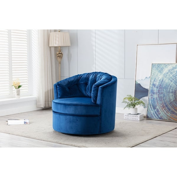 Modern Swivel Accent Chair Barrel Chair. Opens flyout.