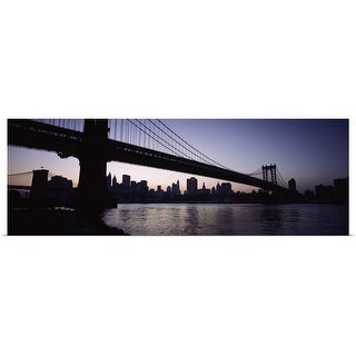 """Bridge, Manhattan Bridge, Lower Manhattan, New York City, New York State"" Poster Print"