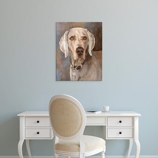 Easy Art Prints Edie Fagan's 'Tate Weimaraner' Premium Canvas Art