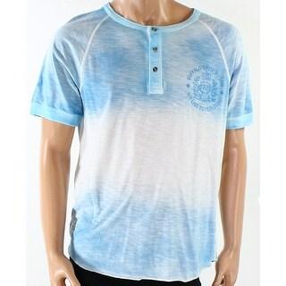 Buffalo David Bitton NEW Blue Mens Size Large L Ombre Henley Shirt