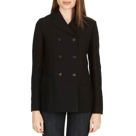 Dior Women's Black Wool Blend Double Breasted Blazer - 4