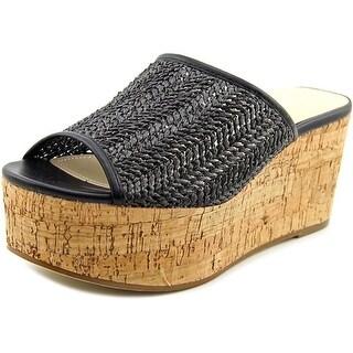 Charles By Charles David Crisp Women Open Toe Synthetic Black Wedge Sandal