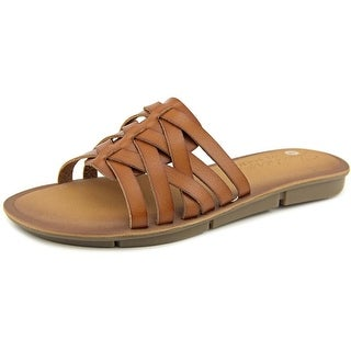 Skechers Indulge 2 Golden Hour Women Open Toe Synthetic Brown Slides Sandal
