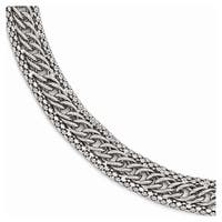 Italian Sterling Silver Polished Link Bracelet - 7.5 inches