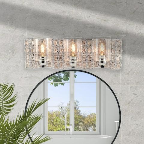 Silver Orchid Schweizer 6-Light Polished Chrome Vanity Light Bath Bar