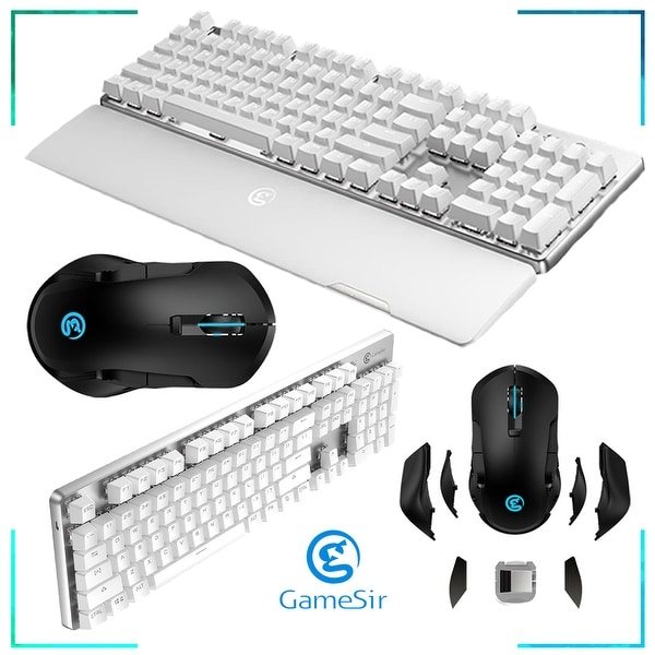 Shop Gamesir Gk300 Wireless Mechanical Gaming Keyboard Gamesir Gm300 Wireless Gaming Mouse Overstock 28353056