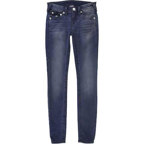 True Religion Womens Pocket Flap Skinny Fit Jeans