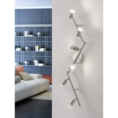 Eglo Buzz 2 6-Light Track Light in Brushed Nickel