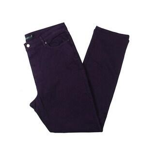 Lauren Ralph Lauren Womens Skinny Jeans Curvy Mid-Rise