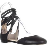 Ivanka Trump Elise Lace Up Ballet Flats, Black