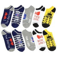 Doctor Who-Low Cut No Show Socks 5 Pack One Size