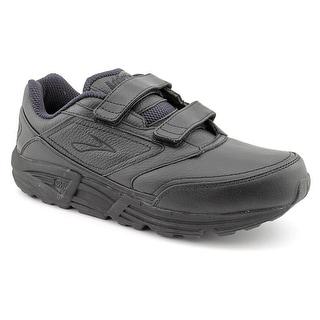 Brooks Addiction Walker V-Strap Men Round Toe Leather Black Walking Shoe