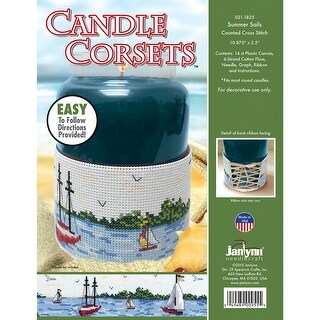 "Candle Corsets Summer Sails Plastic Canvas Kit-10.875""X2.5"""