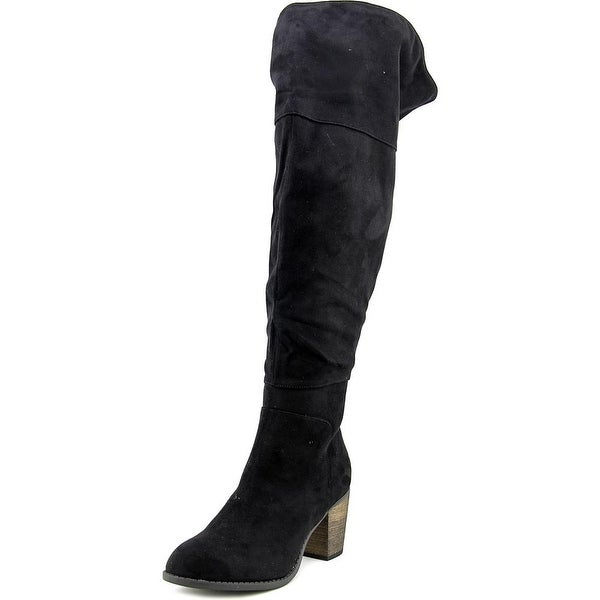 Crown Vintage Pilot Wide Calf Round Toe Synthetic Over the Knee Boot