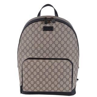 Gucci Beige Black GG Guccissima Supreme Canvas Backpack Rucksack Bag -  Beige Brown 71a634178f