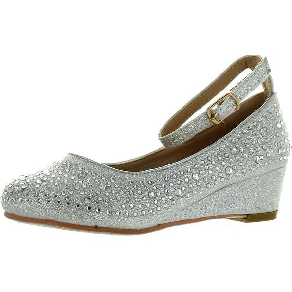 Adorababy Girls Mary Jane Style Wedge Shiny Flat Shoes