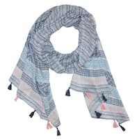 CTM® Women's Tribal Print Scarf with Tassels - One size