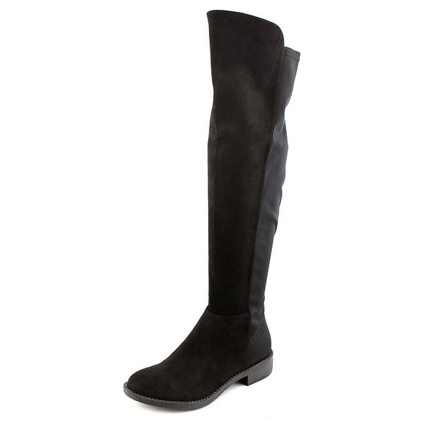Zigi Soho Olaa Women Round Toe Suede Black Knee High Boot