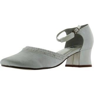 Amiana Girls 8/1478 Party Communion Wedding Shoes - White