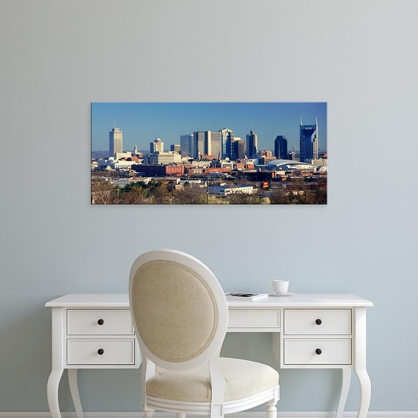 Easy Art Prints Panoramic Images's 'Panoramic view of Nashville, Tennessee Skyline in morning light' Premium Canvas Art